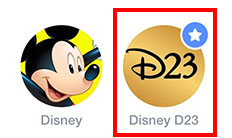 Facebook Disney D23 icon