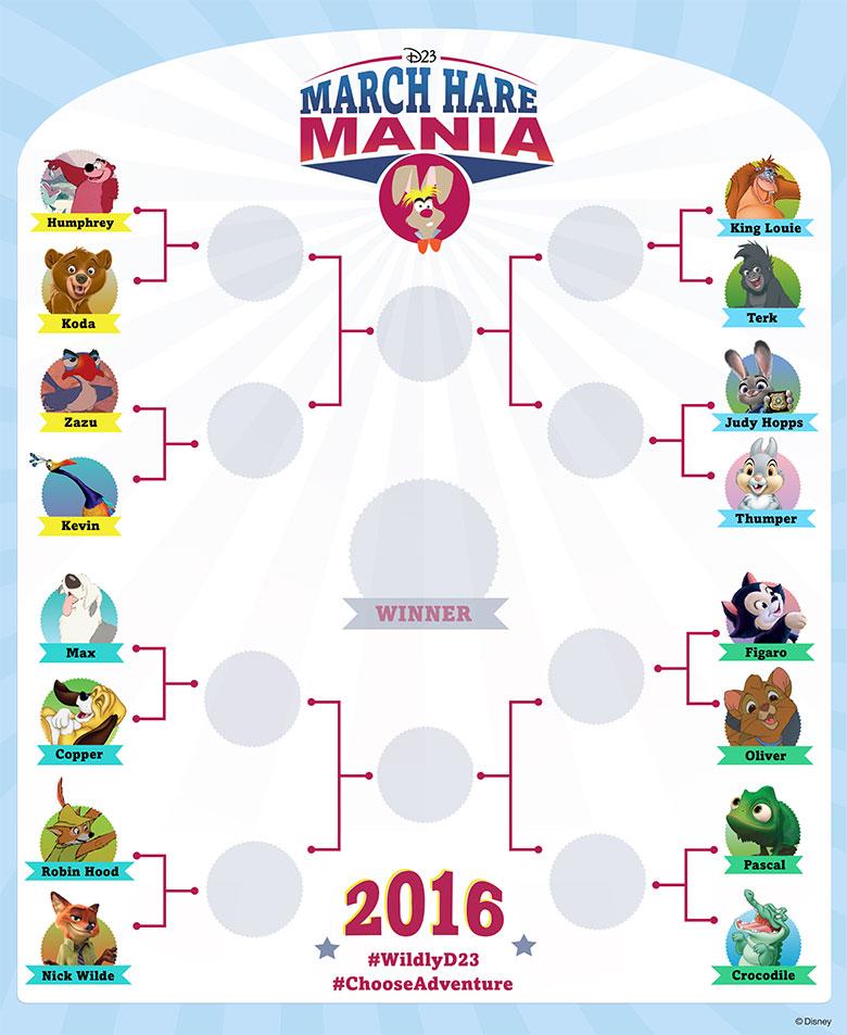 March Hare Mania 2016 tournament bracket