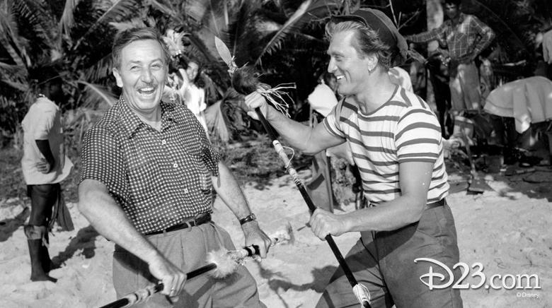 Walt Disney and Kirk Douglas