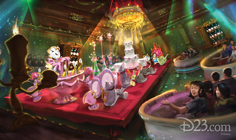 Beauty and the Beast attraction concept art