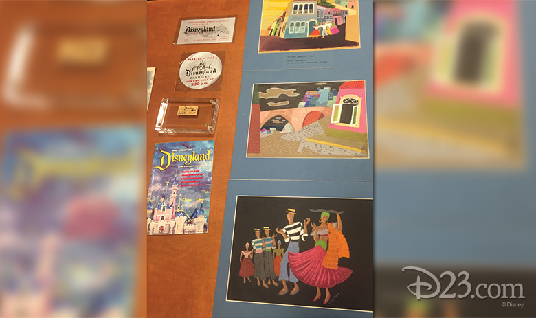 Mary Blair concept art and other items from the Walt Disney Archives.