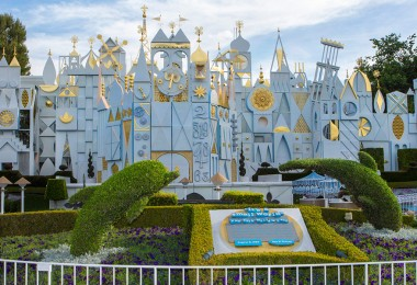 it's a small world exterior at Disneyland