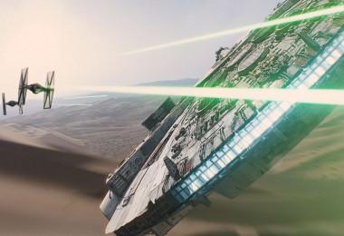Millennium Falcon versus Tie Fighters