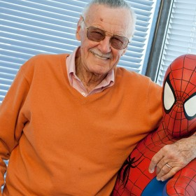 Stan Lee with Spider-Man