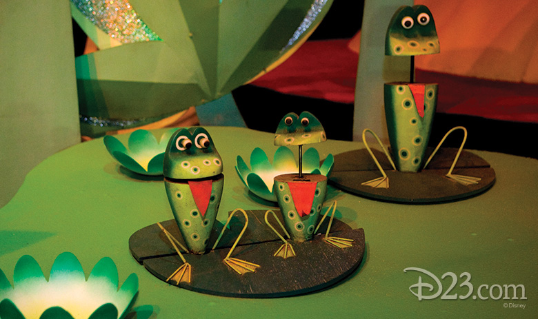 frogs from it's a small world at Disneyland