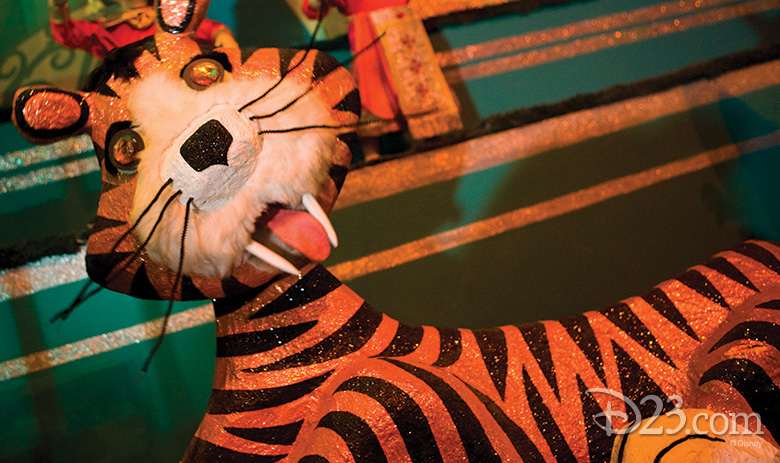 tiger from it's a small world at Disneyland