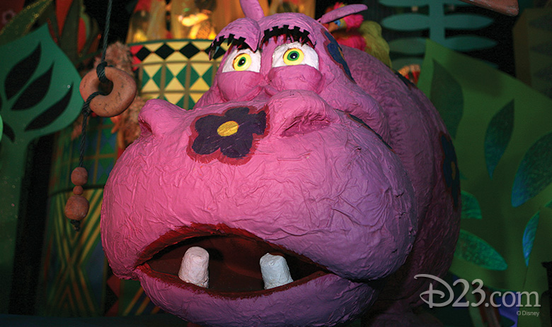 hippo from it's a small world at Disneyland