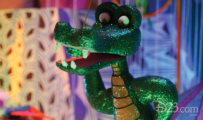 crocodile from it's a small world at Disneyland