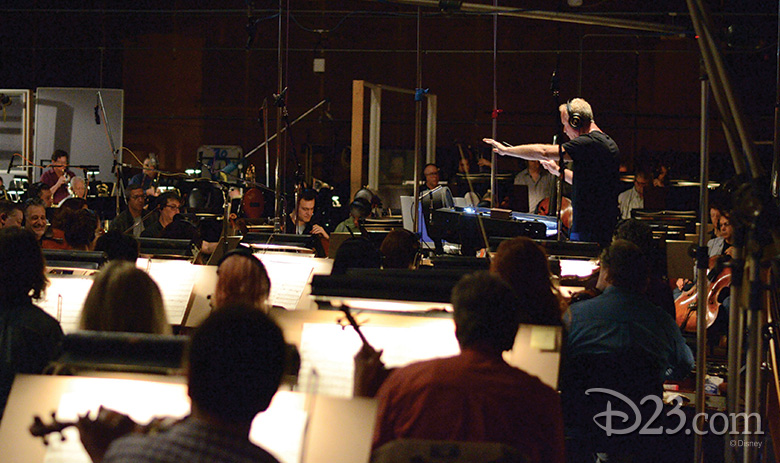 John Debney with the orchestra
