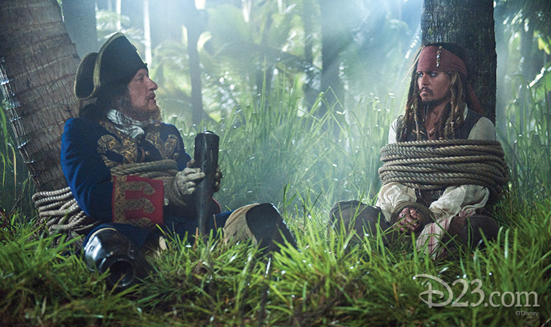 Captain Barbossa and Jack Sparrow