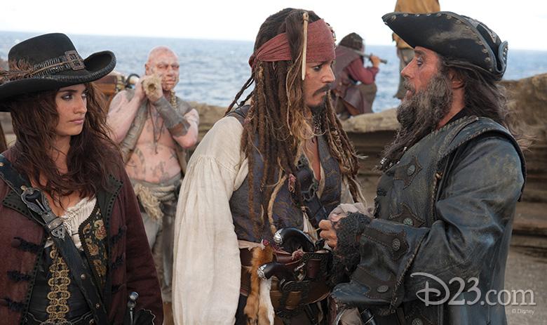 Angelica, Jack Sparrow, and Blackbeard