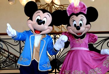 Mickey and Minnie at Shanghai Disneyland Hotel