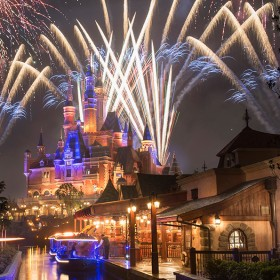Fireworks at Shanghai Disneyland