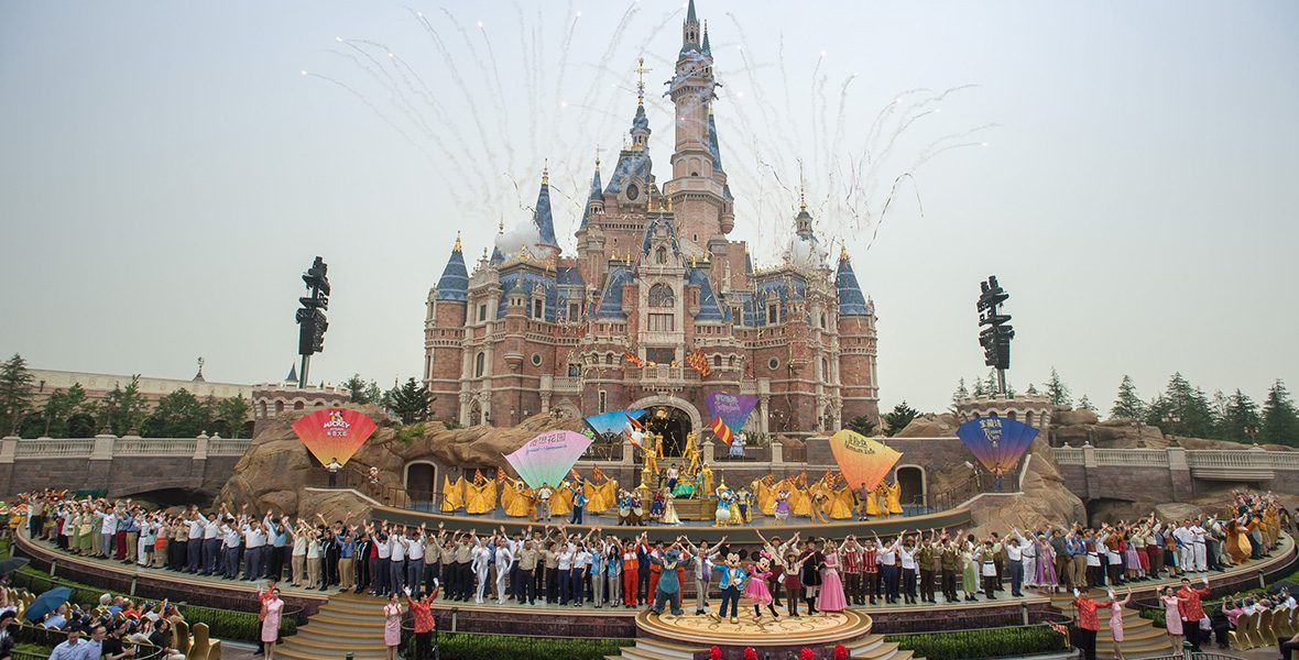 Grand Opening Moment at Shanghai Disneyland