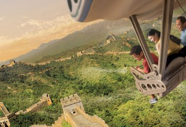 Soarin' over the Great Wall of China