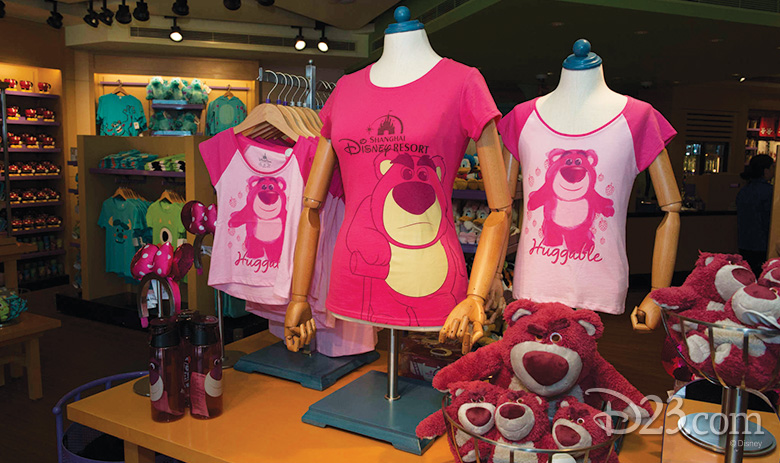 Lotso Merchandise at Toy Story Hotel