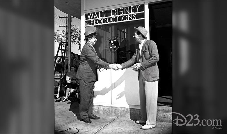 Walt Disney on the Studio Lot