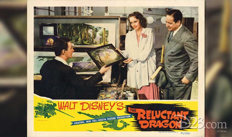 Reluctant Dragon postcard art