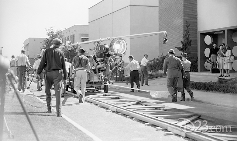 On the set of The Reluctant Dragon