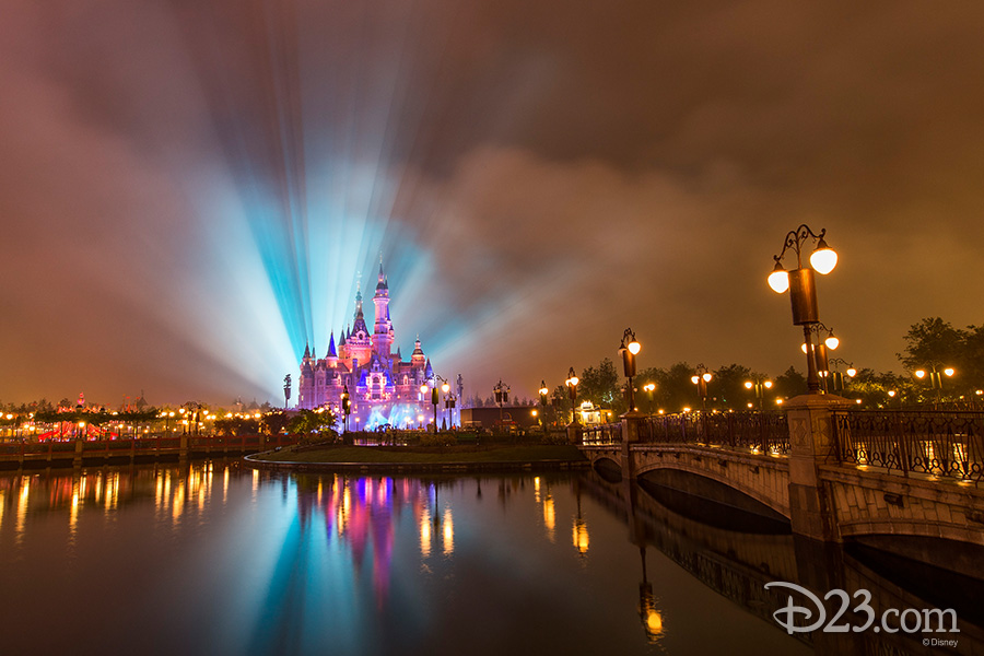 Shanghai Disneyland's Enchanted Storybook Castle at Night