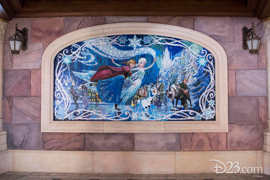Frozen mosaic at Shanghai Disneyland