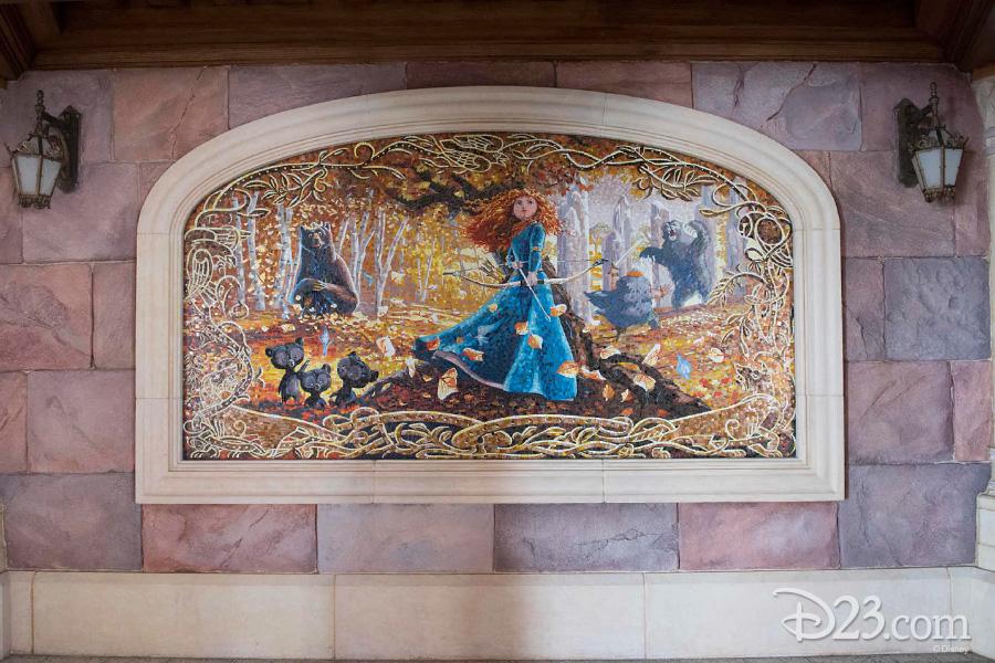 Brave mosaic at Shanghai Disneyland