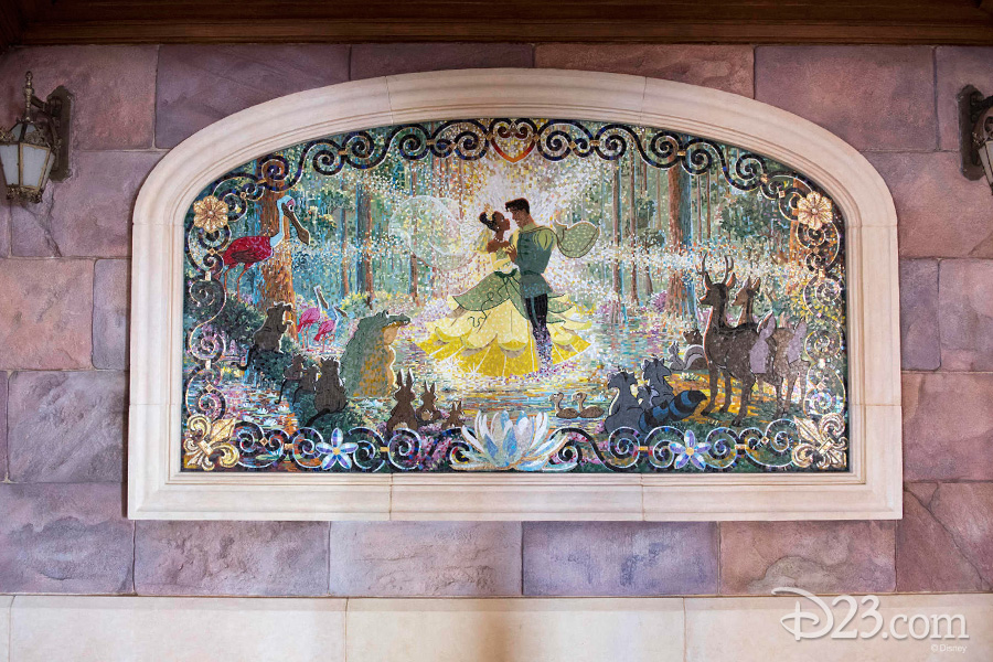 Princess and the Frog mosaic at Shanghai Disneyland