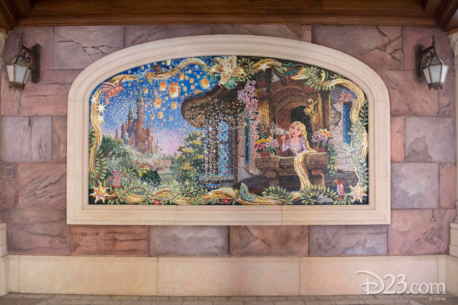 Rapunzel mosaic at Shanghai Disneyland