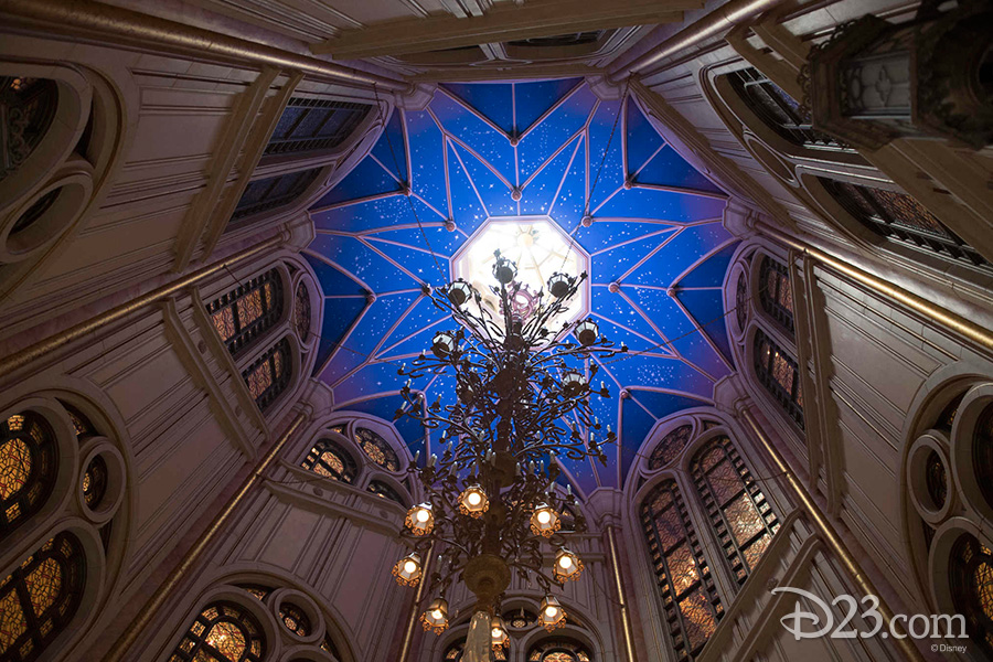 Interior of Shanghai Disneyland's Enchanted Storybook Castle