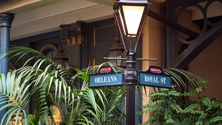 New Orleans Square street sign