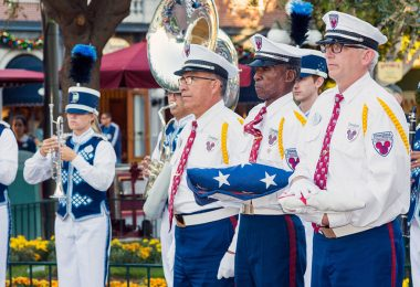Disneyland Flag Retreat ceremony