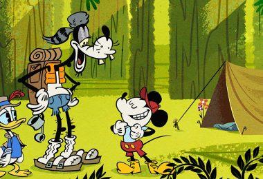 Roughin' It Mickey Mouse cartoon