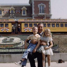 Walt Disney at the opening of Disneyland