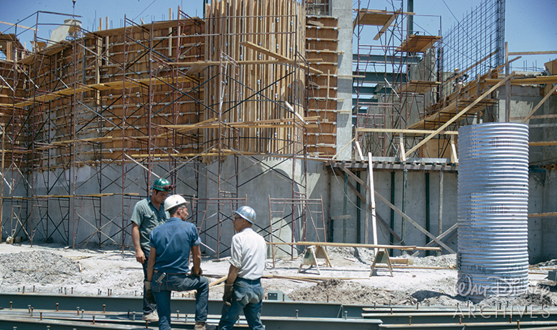 Cinderella Castle construction at Walt Disney World
