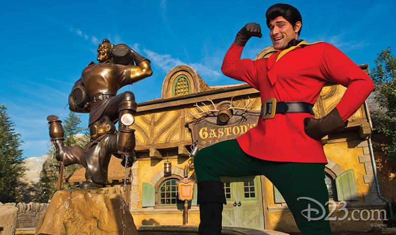 Gaston's Fountain at Fantasyland