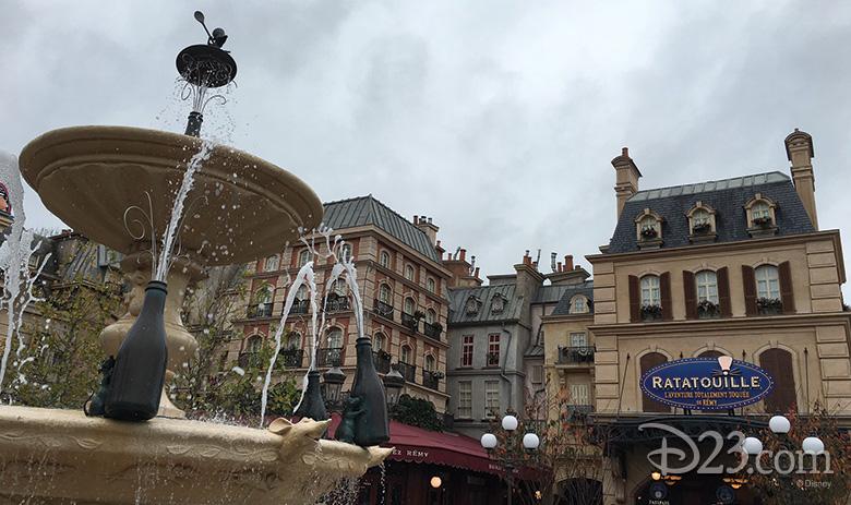 Ratatouille Champagne Fountain at Walt Disney Studios Park