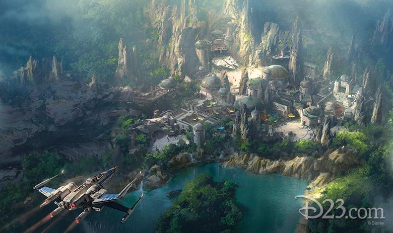 Star Wars-themed land concept art Disneyland