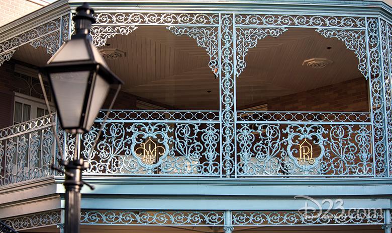 Walt Disney and Roy Disney railing