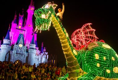 Elliott in Main Street Electrical Parade