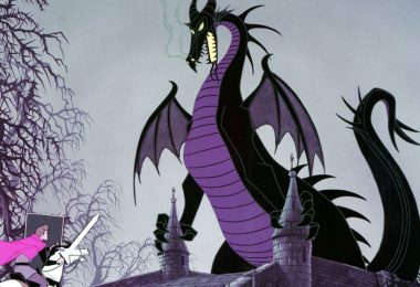 Maleficent as a dragon in Sleeping Beauty