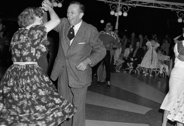 Walt and Lillian Disney dancing at Carnation Plaza Gardens