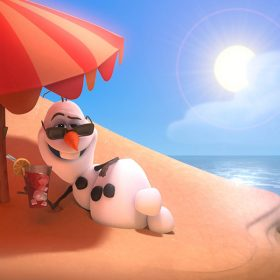 Olaf relaxing