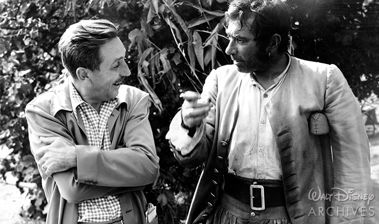 Walt Disney and Robert Newton