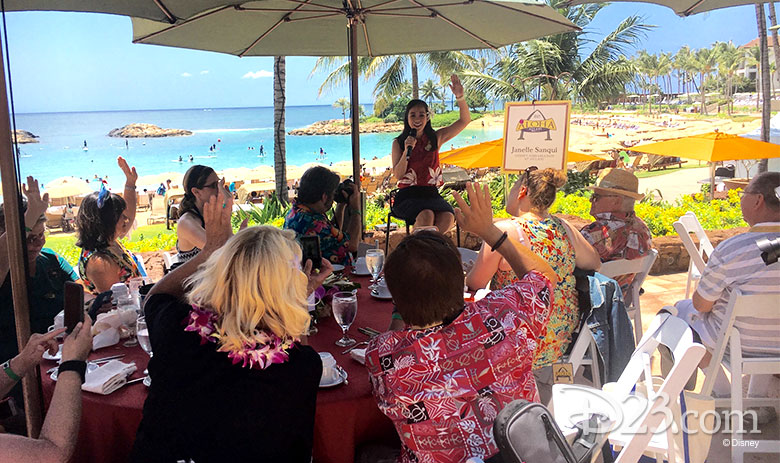 D23 Members attend a presentation by Aulani's cultural advisor