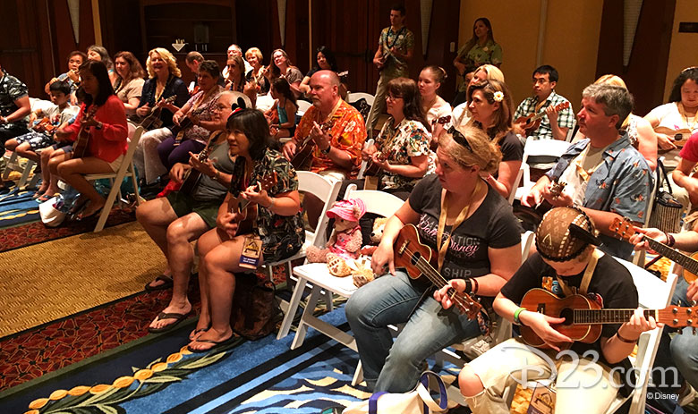 D23 Members taking ukulele classes