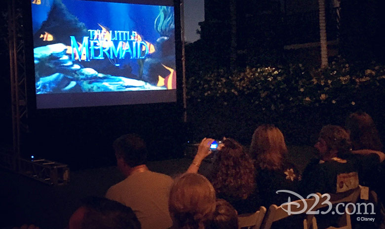 D23 Members attend a private viewing of The Little Mermaid