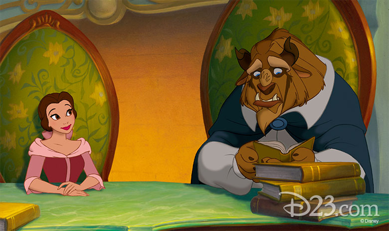 Belle reads with Beast