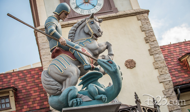 Saint George and the Dragon Statue in the Germany Pavilion
