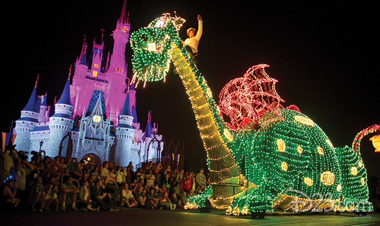 Elliott in the Main Street Electrical Parade