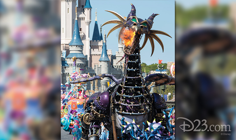 Maleficent in Disney's Festival of Fantasy Parade